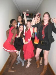 Currier welcomed our tradition of epic themed parties. Here you can see our High School Stereotypes party
